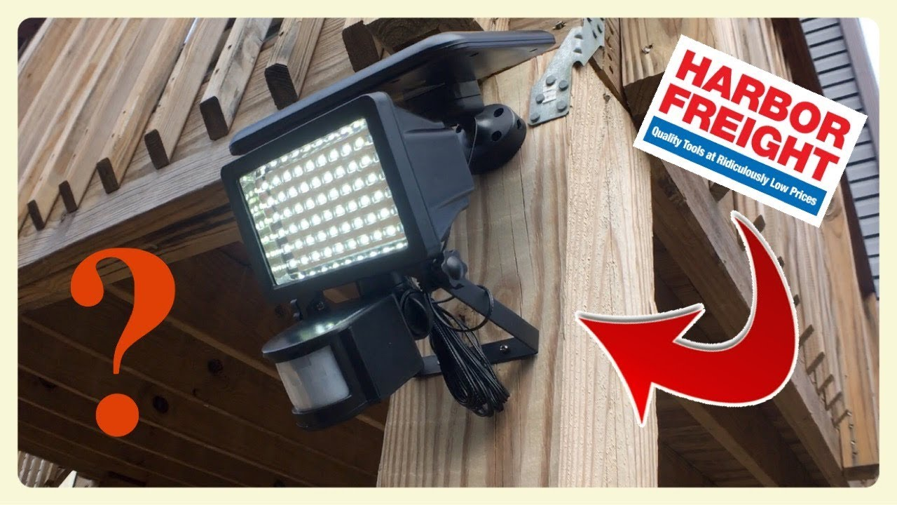 Harbor Freight 60 LED Motion Security Light Review!