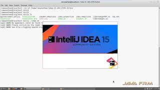 IntelliJ IDEA 15 Community Edition Installation in Fedora  25 Workstation Cinnamon