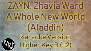 ZAYN Zhavia Ward - A Whole New World Karaoke Lyrics Instrumental Cover Higher Key B