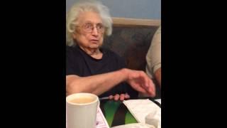 Grandma talks about lollipops.