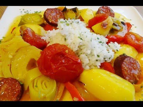 povrce razno iz rerne u saftu brzo i  ukusno