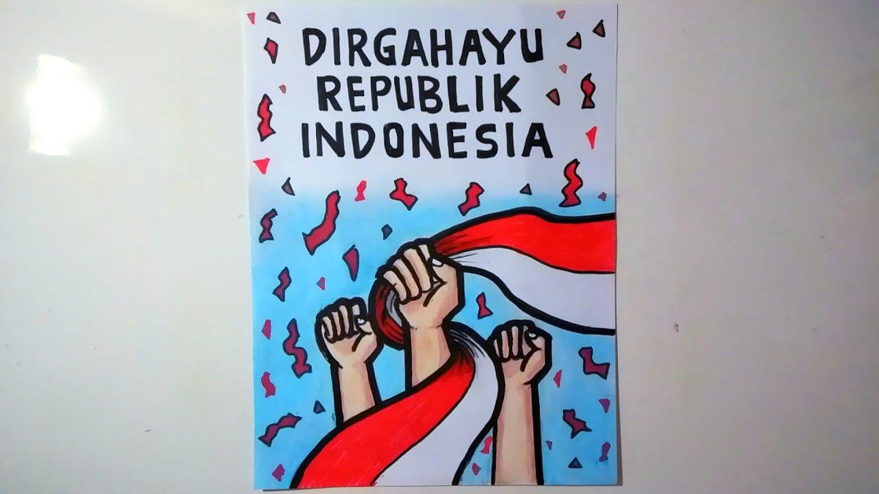 Menggambar Poster Kemerdekaan Poster Kemerdekaan Youtube