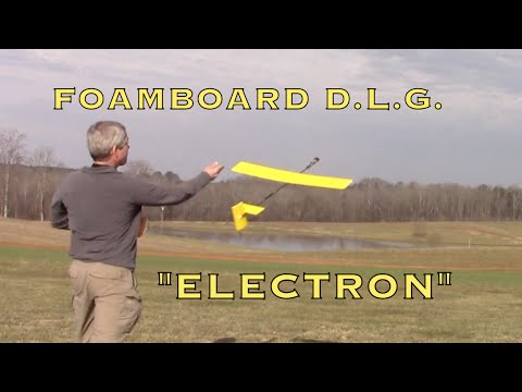 Foamboard Discus Launched Glider