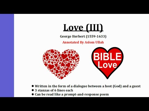 Love 3 By George Herbert, Annotated