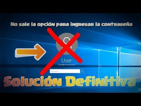 No aparece la ventana de contraseña en Windows 10 Solución Efectiva