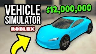 $12,000,000 TESLA ROADSTER - Roblox Vehicle Simulator #31