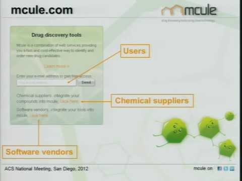 2012 San Diego ACS presentation: Mcule.com: A public web service for drug discovery