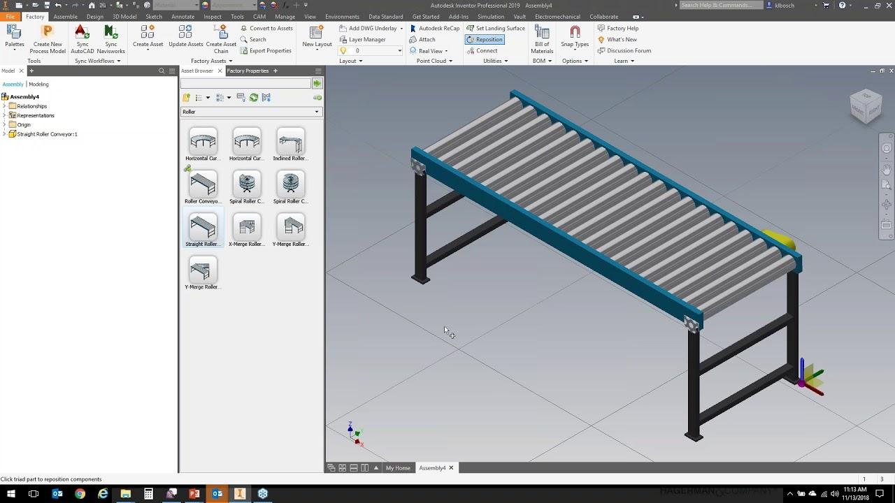 Autodesk Factory Design Utilities Asset Use Creation Management Youtube