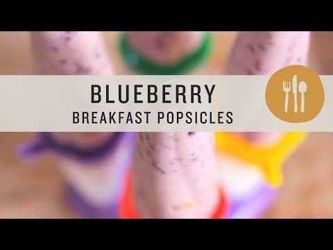 Superfoods - Blueberry Breakfast Popsicles