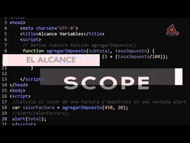 16.- Curso de JavaScript. El Scope. El alcance de las variables.