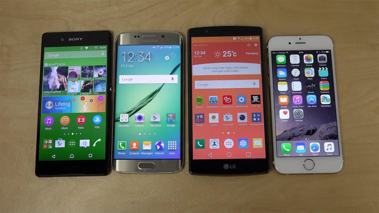 Lg G4 Vs Galaxy S7 Edge: Sony Xperia Z3+ Vs. Samsung Galaxy S6 Edge Vs. LG G4 Vs