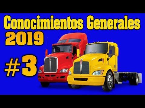 EXAMEN PARA LICENCIA CDL/ CONOCIMIENTOS GENERALES # 3 Preguntas y respuestas