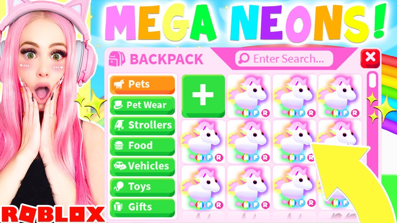 Mega Neon Pets Are Here In Adopt Me What You Need To Know Roblox Adopt Me Update Youtube