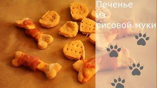 Рецепт печенья для собак (рис, мясо индейки)