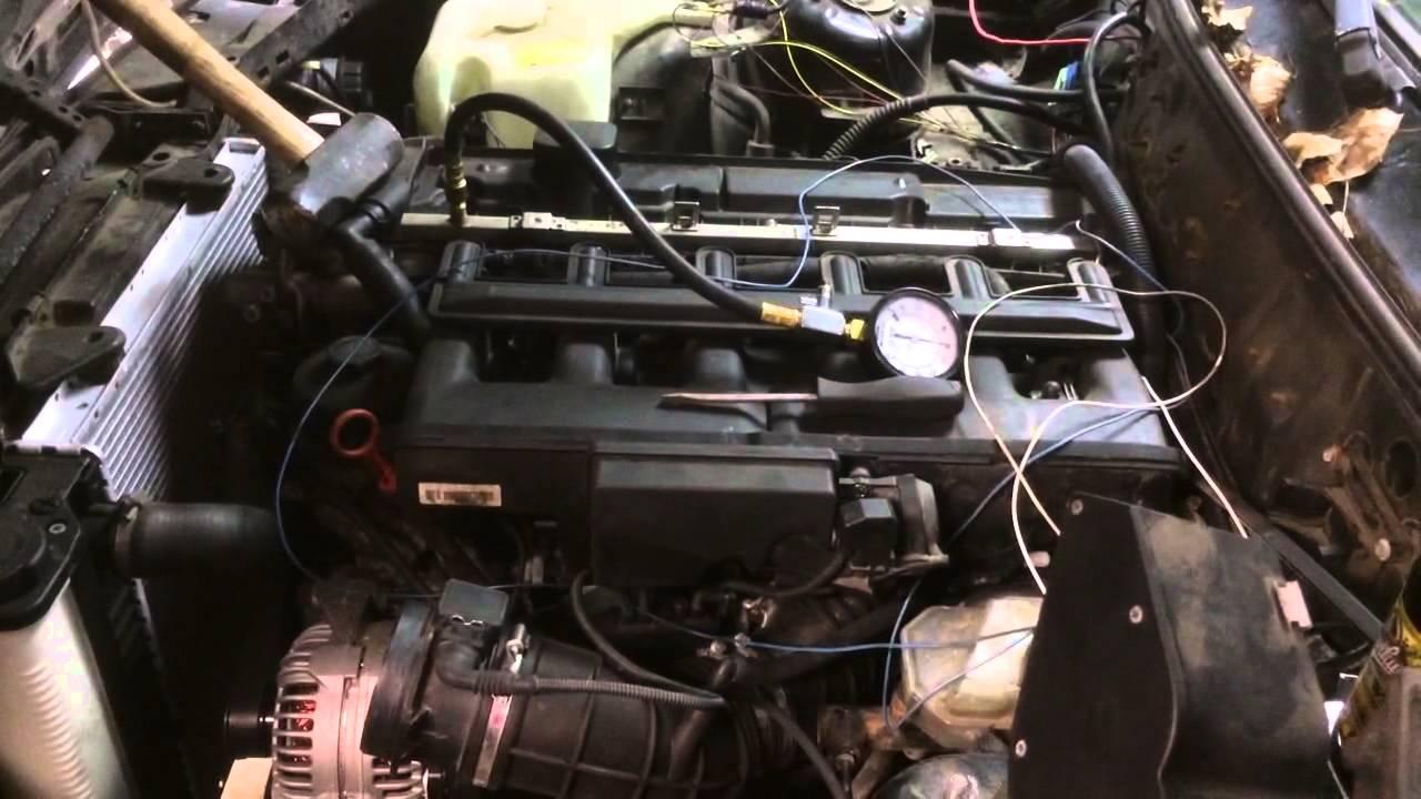 1987 bmw e30 325i m54 3 liter ZHP engine swap responding