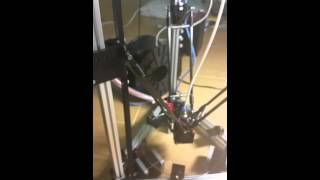 Kossel Mini 3D Printer Kit None Slide Bearing Rail Print Calibration