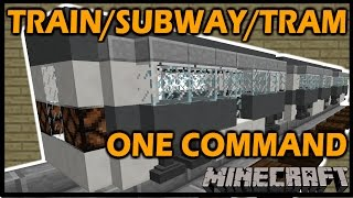 "[1.8 Vanilla Minecraft] Working TRAIN / SUBWAY / TRAM - Modular ""One"" Command block"