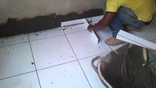 Como acentar roda pé de ceramica
