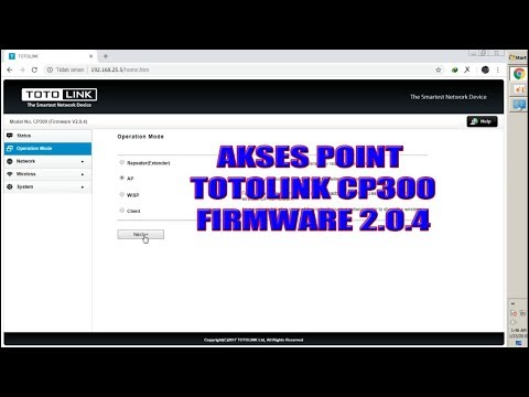 Download How To Configure Totolink Cp300 Access Point Ap Or Bridge