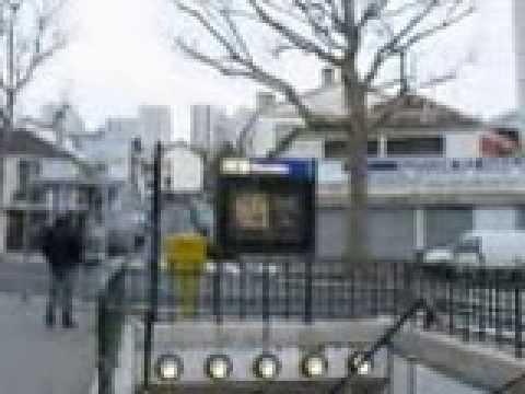 PARIS 19e PLACE DU RHIN ET DANUBE NOVEMBRE 2012 - YouTube