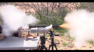 Firing a 10-Bore Flintlock Rifle