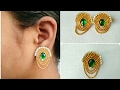 DIY // Latest Earrings // How To  Make Simple And Easy Earrings //Home Made Tutorial :-)