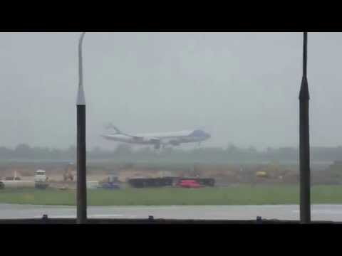 President Obama  Air Force One Landed in Warsaw  03 06 2014 by dzyr.pl