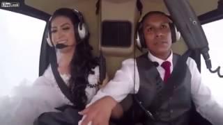 Последние секунды жизни невесты в вертолёте, летевшей на свадьбу