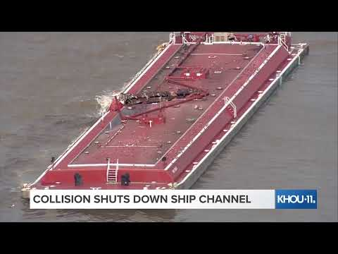 Download Houston Ship Channel crash: Two barges and a tanker collide; Ship channel closed