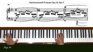 Rachmaninoff Prelude in C Minor Op. 23, No. 7 Piano Tutorial Part 1