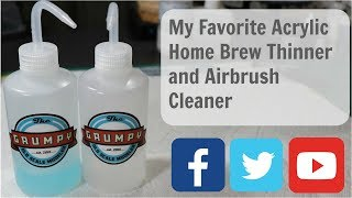 Acrylic Paint Home Brew Thinner and Airbrush Cleaner