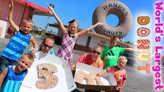 WORLD'S LARGEST DONUT!!!