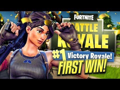 MY FIRST EVER FORTNITE WIN! (Fortnite Battle Royale)