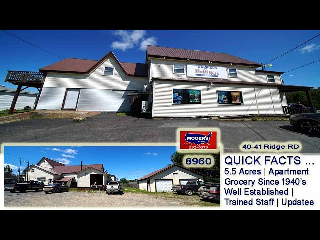 Grocery Stores For Sale In Maine | Oakfield Thriftway Grocery MOOERS REALTY +8960