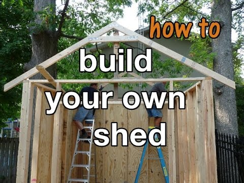 How to Build a Storage Shed In 10 Easy Steps - DIY project ...