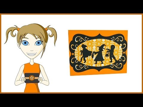 Trick or Treat Silhouette Card