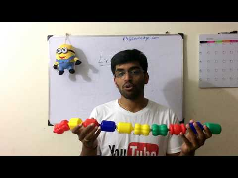 Data Structures : Linked List an  example with property in {தமிழ்}