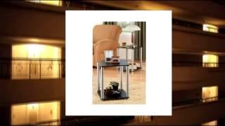 No Tools Required Black Set Of 2 End Table Set Living Bedroom Dorm Furniture