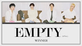 "WINNER (위너) - ""공허해 (Empty) (4 Ver.)"" Han/Rom/Eng Color Coded…"