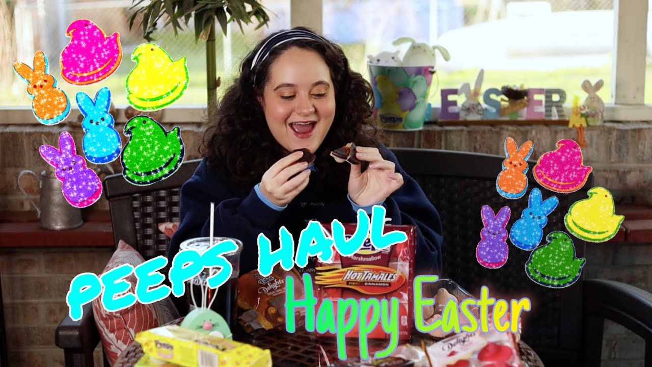 🐰Easter Special 🐣 Peeps Haul & Review 🐤 Hot Tamales Fierce Cinnamon, Sour Watermelon, Delights, e