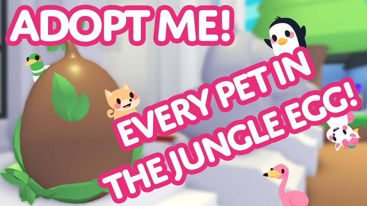 Every Pet In The Jungle Egg Adopt Me On Roblox Youtube