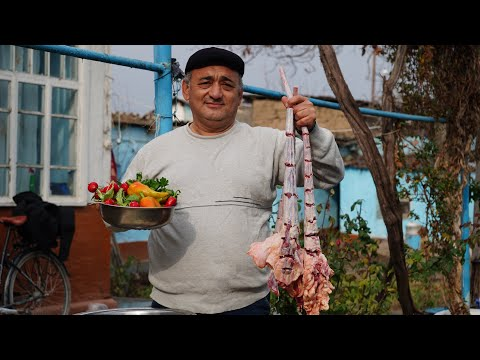 Попробовав раз,будете просить ее всегда.Узбекская дум шурпа.Шурпа из говяжьих хвостов.Узбекистан.