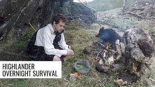 Overnight Survival as an Ancient Highlander (sleeping in the plaid)