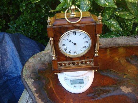 Vintage Old Antique R & C  Platform Escapement  Mantle  Clock   See Video