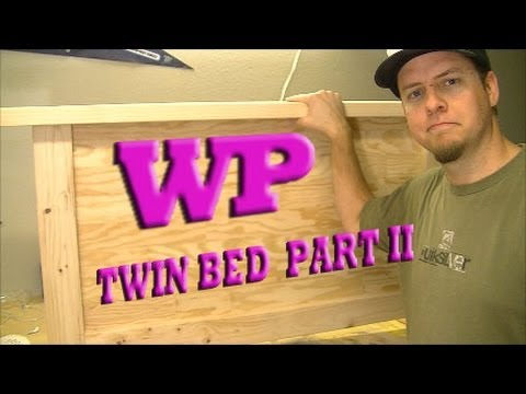 How to make a Twin Bed - Part II The Headboard