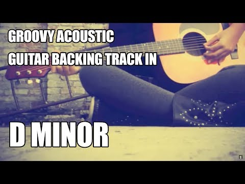 groovy acoustic guitar backing track in d minor
