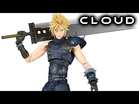 Play Arts Kai CLOUD STRIFE FF7 Remake Action Figure Toy Review