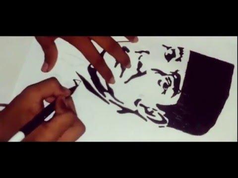 Menggambar Presiden Ir Soekarno Timelapse Drawing Youtube