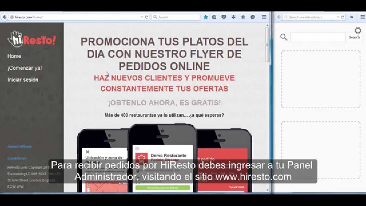 hiresto com flyers online gratis para restorantes youtube