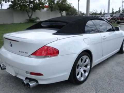 BMW Series Ci Convertible Miramar FL YouTube - 2004 bmw 645 convertible for sale